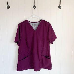 Grey's Anatomy Purple Scrub Top Size 2XL